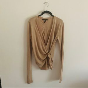 BCBG MAXAZRIA wrap around sweater